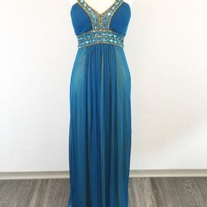 Cache Dresses - Cache   Evening Floor Length Beaded Sequin Gown